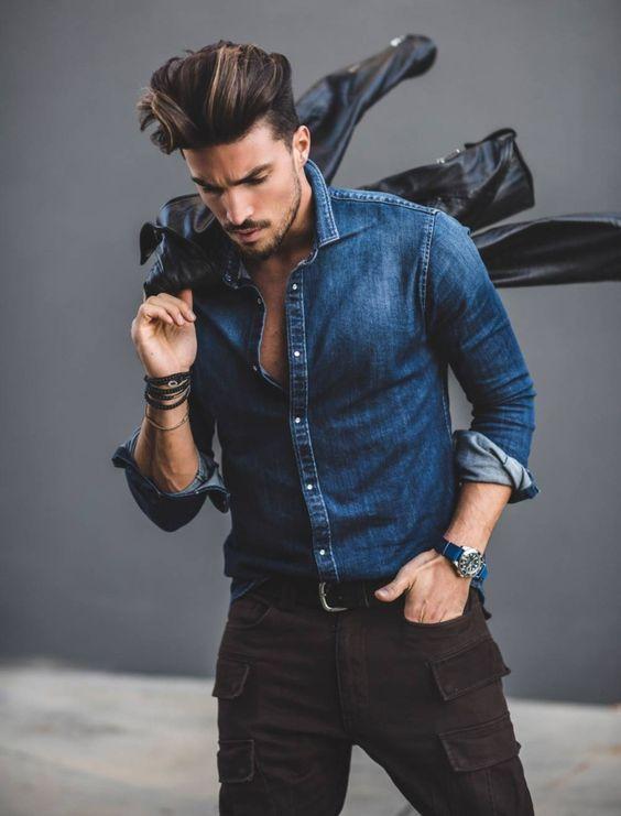 مدل پیراهن 2020 جین مردانه 99 + راهنمای ست کردن و انتخاب لباس جین مردانه 1399