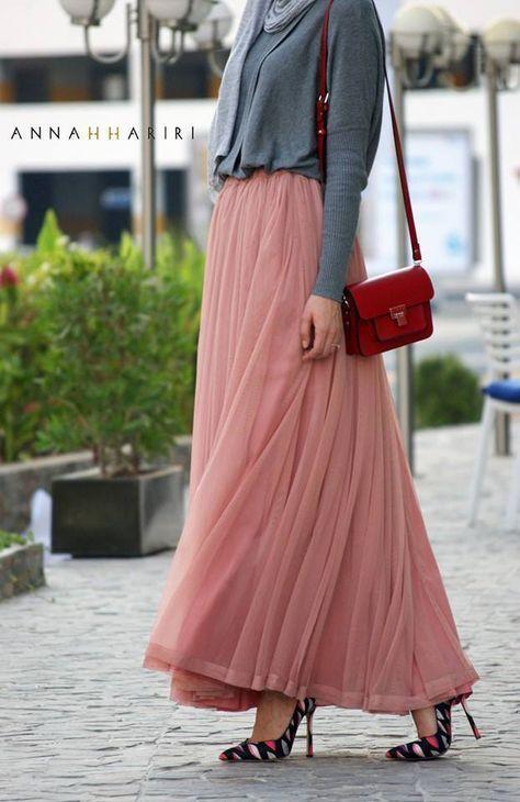 مدل دامن بلند 2019 زنانه و دخترانه 98 | زیباترین مدل های دامن بلند 1398