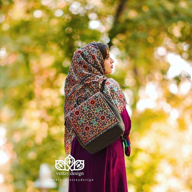ست ها زیبای شال و کیف با هنر ایرانی | مدل کیف و شال سنتی در رنگ های بسیار زیبا