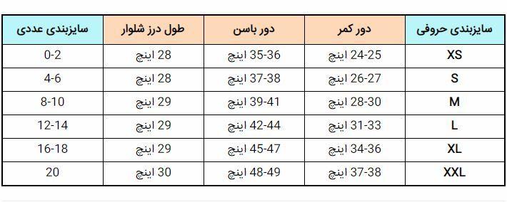 جدول سایزبندی لباس زنانه (سایزهای انواع لباس زنانه + توضیح کامل)