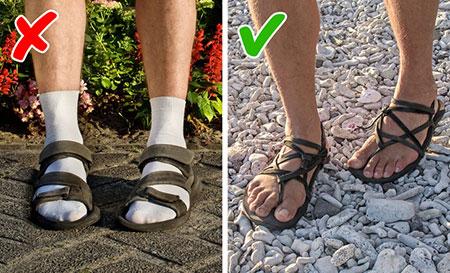 تکنیک های لباس پوشیدن آقایان, اشتباهاتی برای لباس پوشیدن مردان