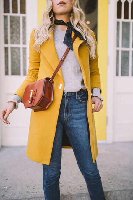 ست پالتو زرد با طوسی, مدل های ست پالتو زرد با خاکستری