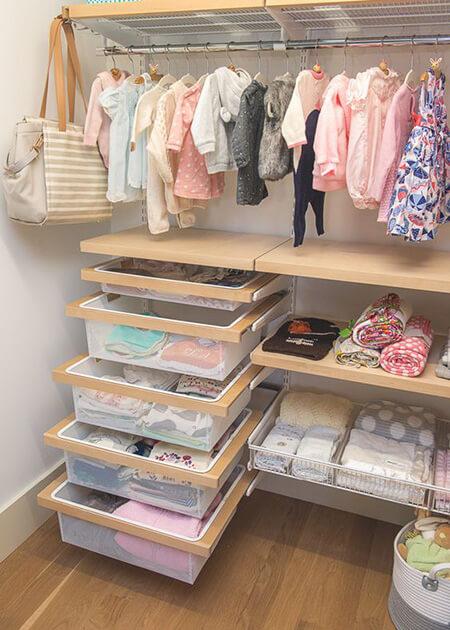 اصول چیدمان لباس نوزاد, روش چیدمان لباس نوزاد