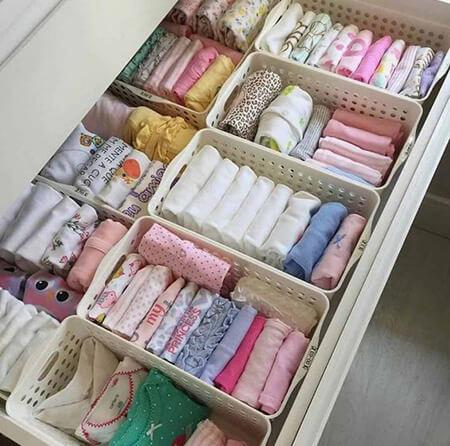روش چیدمان لباس نوزاد, نکاتی برای چیدمان کمد لباس نوزاد