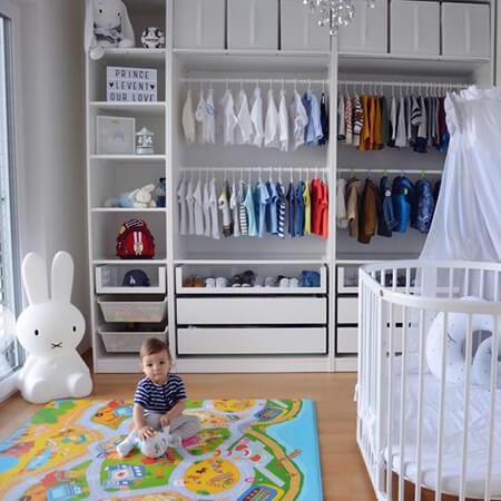 روش چیدمان لباس نوزاد,دکوراسیون و چیدمان کمد نوزاد