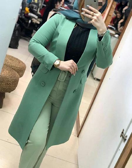 ست مانتو سبز,بهترین رنگ برای ست با مانتو سبز
