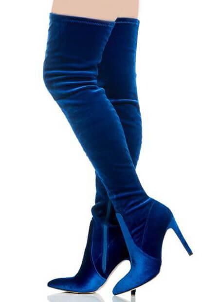 مدل های بوت آبی, مدل های بوت زنانه به رنگ آبی