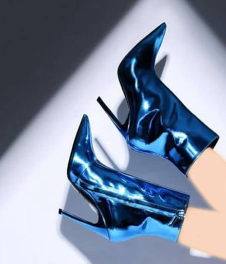 مدل بوت های بلند آبی, مدل نیم بوت های آبی
