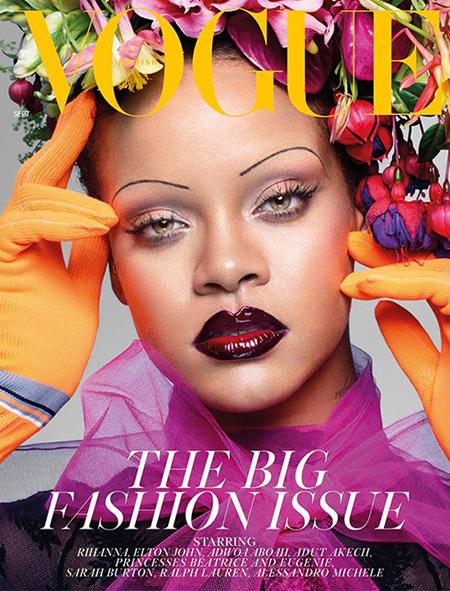 تصاویر ریحانا روی مجله ووگ, عکس های ریحانا روی مجله مد ووگ