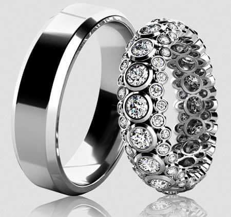 مدل حلقه های بدون نگین,مدل طلا و جواهرات نامزدی
