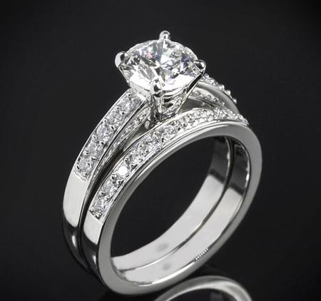 حلقه های ازدواج نگین دار,حلقه های نامزدی نگین دار