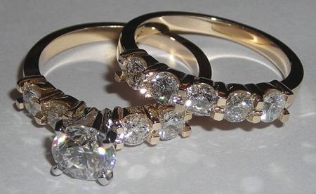 مدل حلقه های بدون نگین,ست های حلقه نامزدی