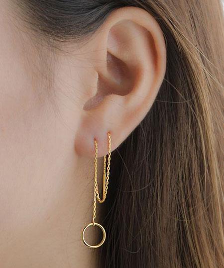 مدل گوشواره بخیه ای, مدل گوشواره زنجیری
