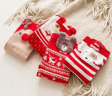 جوراب با طرح بابا نوئل, جوراب با طرح برف