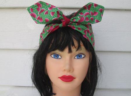 مدل دستمال سر شب یلدا, دستمال سر با طرح هندوانه
