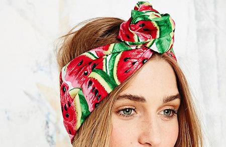 دستمال سر, دستمال سر دخترانه با تم هندوانه