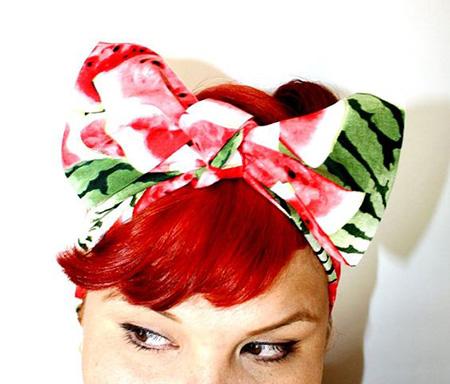 مدل دستمال سر با طرح هندوانه, دستمال سر برای شب یلدا