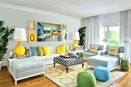 دکوراسیون خانه به رنگ سال 1400, نحوه ی چیدمان خانه به رنگ سال 2021