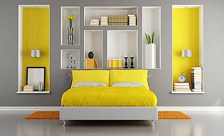 چیدمان خانه به رنگ 2021, دکوراسیون خانه به رنگ زرد و خاکستری