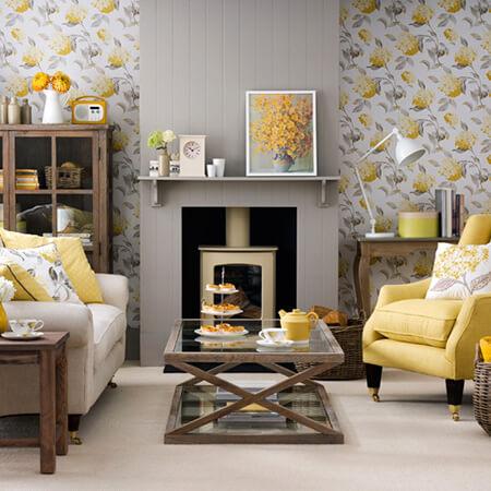 چیدمان خانه به رنگ سال 1400, چیدمان خانه به رنگ زرد و خاکستری