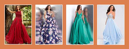 رنگ لباس شب با توجه به رنگ پوست و مو,بهترین انتخاب رنگ لباس