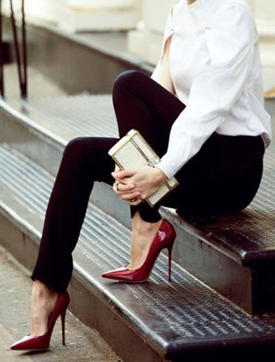 طرز ست کردن با کفش قرمز, راهنمای پوشیدن کفش قرمز
