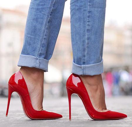 ست کردن با کفش قرمز,نحوه ی ست کردن با کفش قرمز
