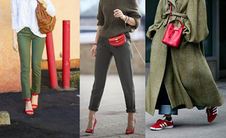 بهترین رنگ برای ست کردن با کفش قرمز,نحوه ی ست کردن با کفش قرمز