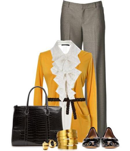 ست لباس خاکستری و زرد, مدل ست های لباس خاکستری و زرد, مدل های ست خاکستری و زرد