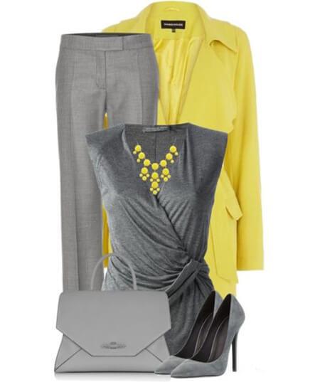 مدل های ست خاکستری و زرد, ست های شیک خاکستری و زرد, تصاویر ست های خاکستری و زرد