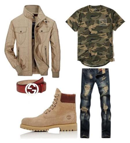 مدل ست های لباس مردانه با بوت, ست کردن لباس مردانه با بوت