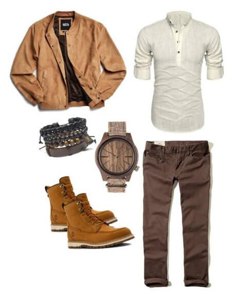 پوشش آقایان با بوت, لباس پوشیدن آقایان با بوت