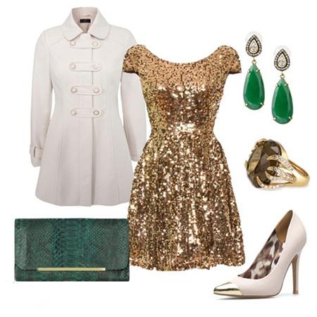کفش های رنگی مناسب لباس طلایی, مدل کفش با لباس طلایی