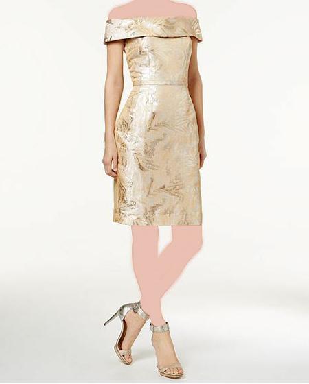نکاتی برای پوشیدن لباس طلایی, ست های مناسب برای لباس های طلایی
