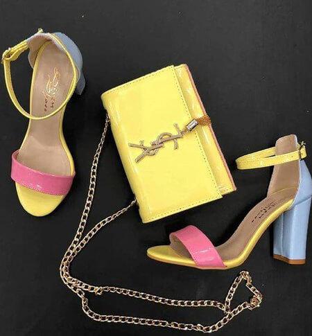 ست کیف و کفش زرد, مدل های ست کیف و کفش زرد, شیک ترین مدل های کیف و کفش زرد