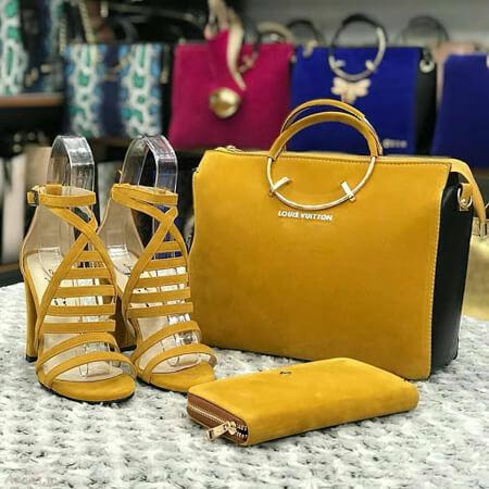 تصاویر ست کیف و کفش زرد, تصویرهای ست کیف و کفش زرد, ست کیف و کفش مجلسی زرد