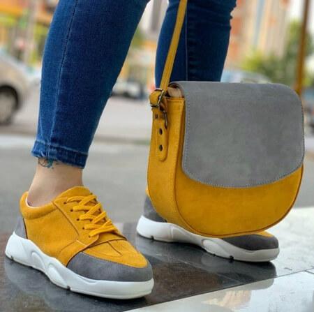 ست های زیبای کیف و کفش زرد, تصاویر ست کیف و کفش زرد, تصویرهای ست کیف و کفش زرد