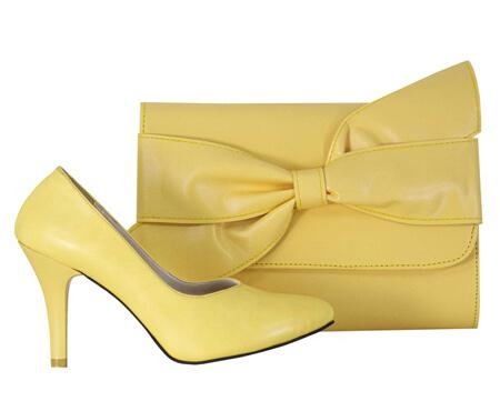 ایده هایی برای ست کیف و کفش زرد,ست کیف و کفش مجلسی زرد,ست های زیبای کیف و کفش زرد