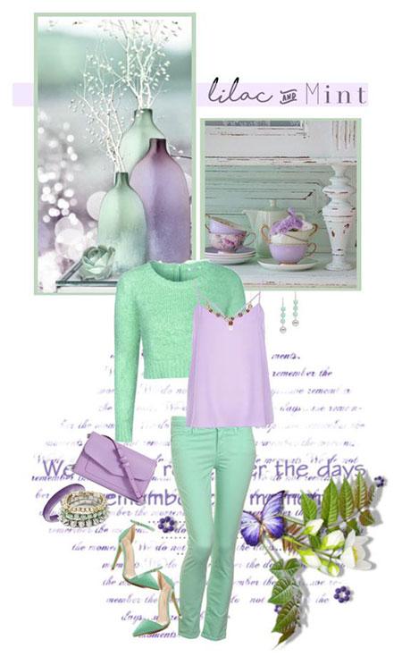 اصول ست کردن با رنگ پاستیلی, ست کردن لباس با رنگ سبز پاستیلی