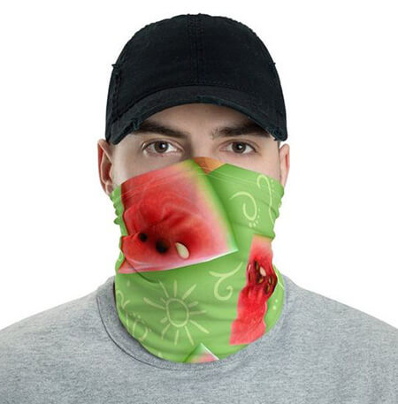 ماسک های ویژه ی شب یلدا, ماسک با طرح هندوانه