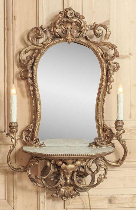 مدل آینه و شمعدان دیواری, مدل آینه شمعدان دیواری