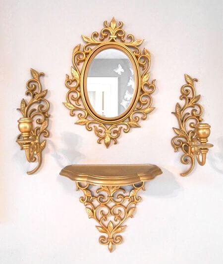 مدل های آینه و شمعدان دیواری, کنسول های کوچک دیواری