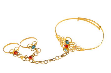مدل دستبند انگشتری بچه گانه,دستبند انگشتری طلا