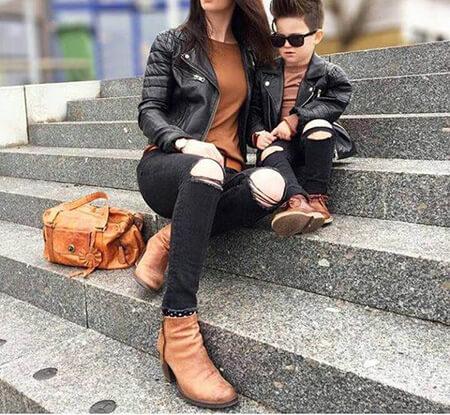 ست های شیک مادر و پسر, مدل لباس های ست مادر و پسر