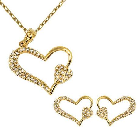 جدیدترین نیم ست های طلا و جواهر,نیم ست های جواهر