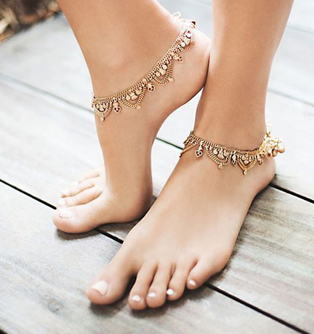 مدل پابند طلا,پابند دخترانه