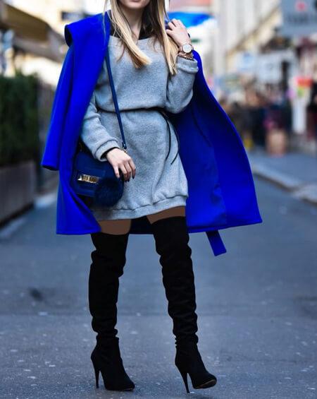 مدل پالتو آبی رنگ,انواع پالتوهای آبی
