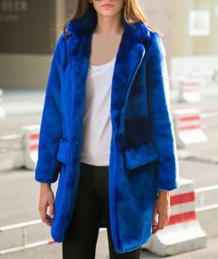 مدل پالتوهای جدید آبی رنگ,مدل پالتو به رنگ آبی