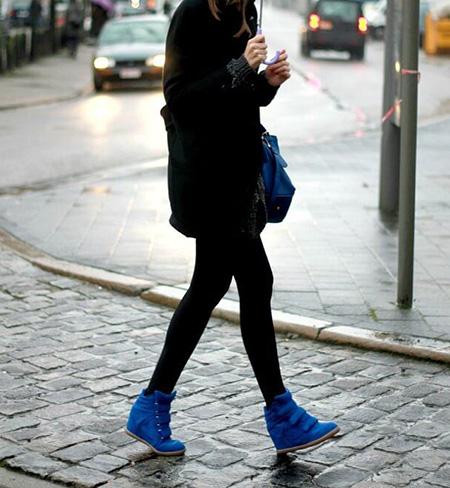 رنگ های مناسب با کفش های آبی,ست های مناسب با کفش آبی