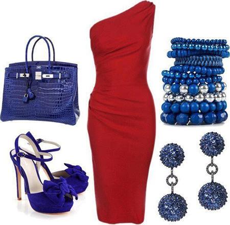 ست های مناسب با کفش آبی,بهترین رنگ های ست با کفش آبی